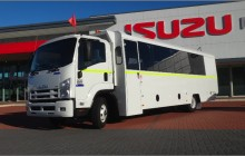 Isuzu 30 seater with walk-in storage